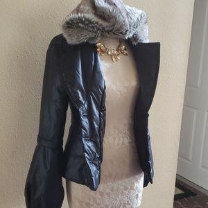 Faux fur jacket, light